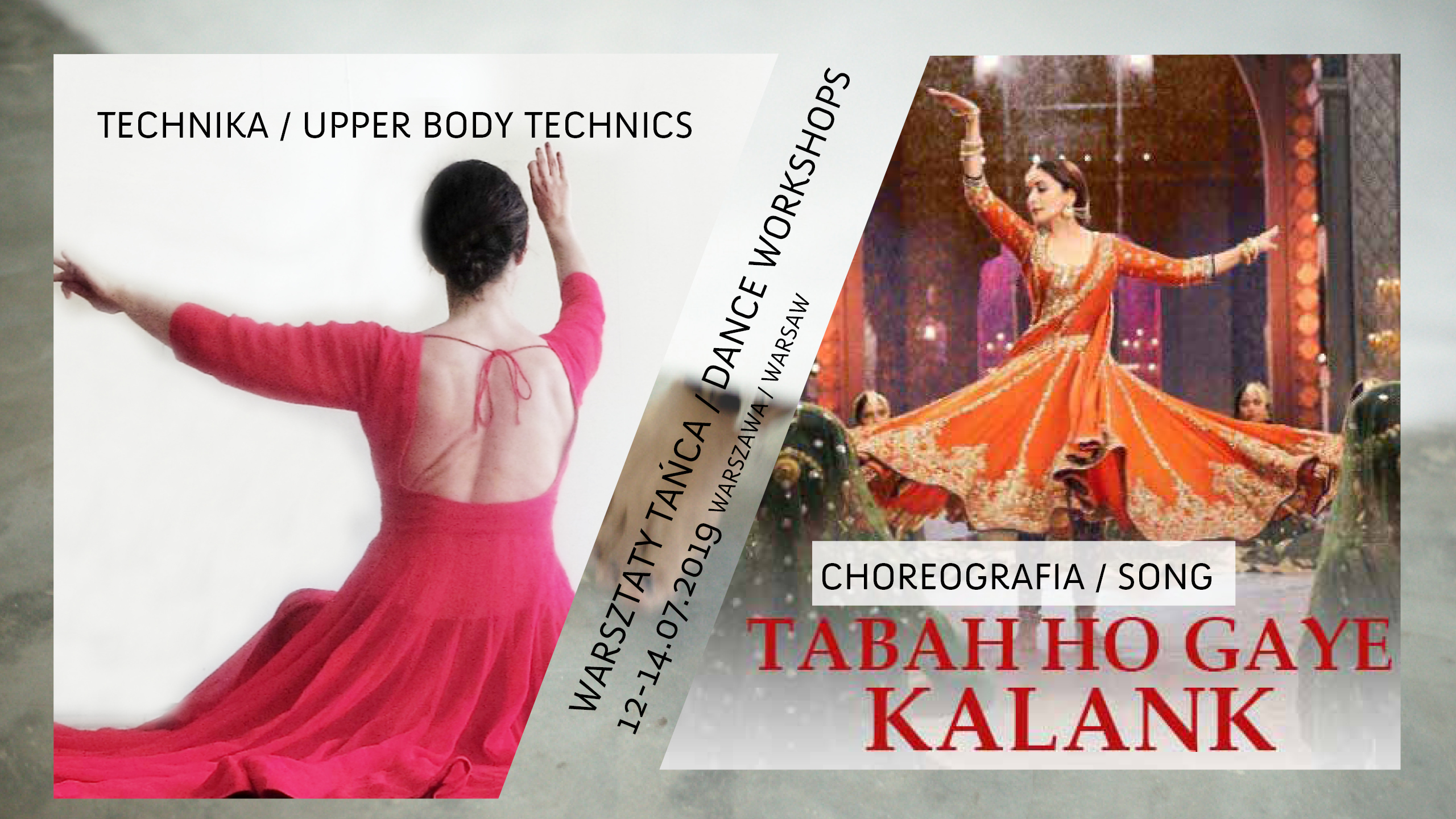 Warsztaty: technika kathak i choreografia Bollywood półklasyczna